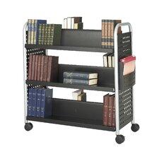 """Bücherwagen """"Flitz"""" mit sechs Ablageflächen, in Schwarz"""