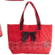 Red Bandana Bow Tote Bag