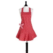 Red and Pink Polka Dot Bib Josephine Apron