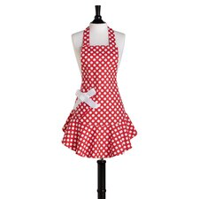 Red and White Polka Dot Bib Josephine Apron