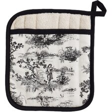 French Toile Square Pot Mitt