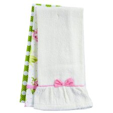 Pink Cottage Rose Towel Trio