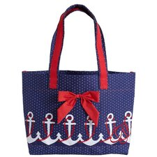 Anchors Away Tote Bag with Bow