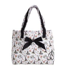 Parisian Toile Tote Bag with Bow