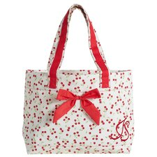 Retro Cherry Tote Bag with Bow