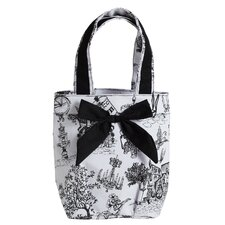Cafe Toile Lunch Tote Bag with Bow