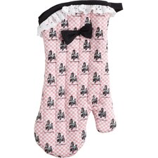 French Poodle Oven Mitt with Bow