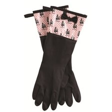 French Poodle Rubber Gloves with Bow