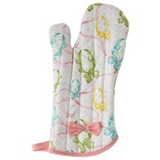 Easter Egg Ribbon Oven Mitt with Bow