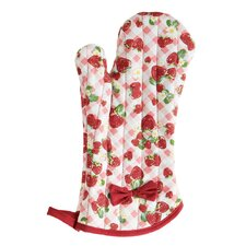 Strawberry Gingham Oven-Mitt with Bow