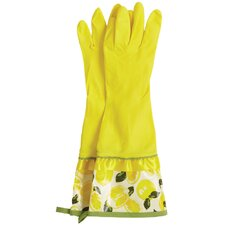 Summer Lemons Rubber Gloves