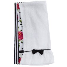 Dotted Parlor Floral Towel Trio