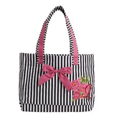 Parlor Floral Tote Bag with Bow