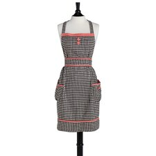 Brown and Cream Woven Houndstooth Doris Apron