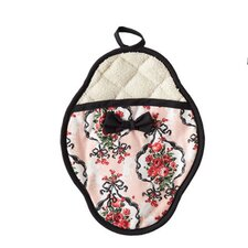 Baroque Bow Floral Scalloped Pot Mitt