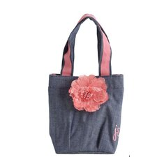 Denim Flower Lunch Tote Bag