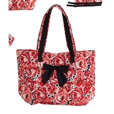 Deco Rose Bow Tote Bag