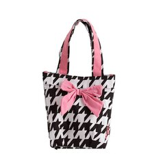 Giant Houndstooth Bow with Lunch Tote