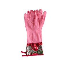 Leopard Floral Rubber Gloves