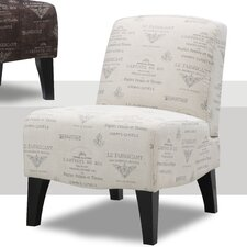 <strong>Emerald Home Furnishings</strong> Carrie Fabric Slipper Chair