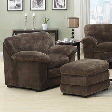 <strong>Emerald Home Furnishings</strong> Devon Chair and Ottoman