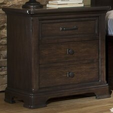 Crystal Ridge 3 Drawer Nightstand