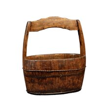 Oval Water Bucket with Crested Handle