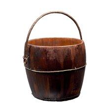 Vintage Round Kitchen Bucket with Iron Handle
