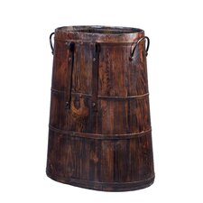 Saddle Bucket with Iron Handles