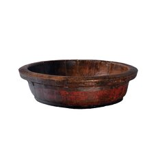 Vintage Round Decorative Wooden Basin
