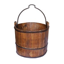 Vintage Iron Handle Water Bucket