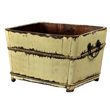 Distressed Chinese Square Sink with Iron Handles