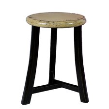 <strong>Antique Revival</strong> Round Top Three Legged Stool