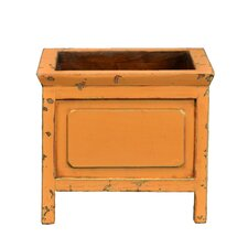 Classic Square Planter with Wooden Legs