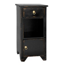 PL Home 1 Drawer Bistre Nightstand