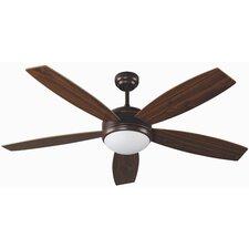 Vanu Five Blade Ceiling Fan in Brown