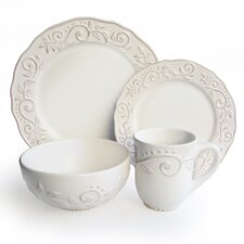 Marseille Porcelain 16 Piece Dinnerware Set