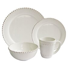 Bianca Bead Round 16 Piece Dinnerware Set