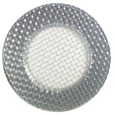 "12.5"" Round Braid Glitter Charger Plate"