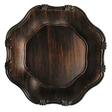 Baroque Wood Grain Charger Plate (Set of 4)