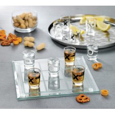 <strong>Crystal Clear</strong> Game Night Tic Tac Toe Shot Glass Set