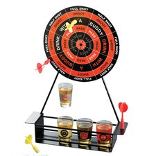 <strong>Crystal Clear</strong> Game Night Shot Glass Darts in Red and Black