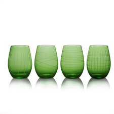 4 Piece Melaina Stemless Wine Glass Set