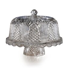 Pemberly Domed Crystal Cake Plate