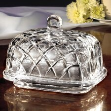 Rouen Crystal Butter Dish