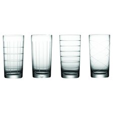 Medallion 4 Piece Highball Glass Set