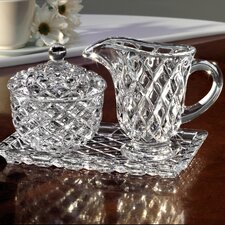 <strong>Fifth Avenue Crystal</strong> Muirfield Sugar and Creamer Set