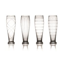 Medallion 4 Piece Pilsner Glass Set