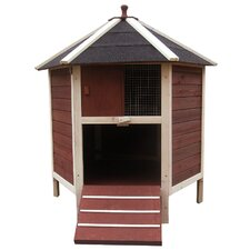 The Tower Poultry Chicken House with Nesting Box and Removable Roof