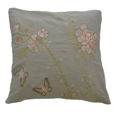 <strong>AV Home</strong> AV Home Butterfly and Flowers Embroidered Linen Pillow